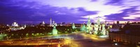 """Russia, Moscow, Red Square at night by Panoramic Images - 27"""" x 9"""" - $28.99"""