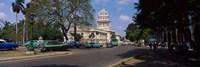 Building along a road, Capitolio, Havana, Cuba Fine Art Print