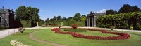 """Formal garden in front of a building, Schonbrunn Gardens, Vienna, Austria by Panoramic Images - 27"""" x 9"""", FulcrumGallery.com brand"""