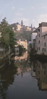 """Luxembourg, Luxembourg City, Alzette River Flowing through Grund District by Panoramic Images - 9"""" x 27"""""""