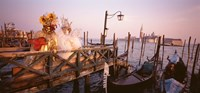 """Italy, Venice, St Mark's Basin, people dressed for masquerade by Panoramic Images - 27"""" x 9"""""""