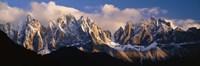 Snowcapped Mountain Peaks Dolomites Italy