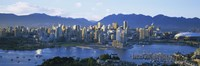 """Skyscrapers at the waterfront, Vancouver, British Columbia, Canada by Panoramic Images - 27"""" x 9"""""""