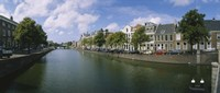 Buildings Along a Canal Haarlem Netherlands