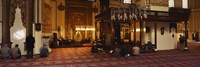 """Group of people praying in a mosque, Ulu Camii, Bursa, Turkey by Panoramic Images - 27"""" x 9"""""""