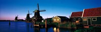 """Windmills Zaanstreek Netherlands by Panoramic Images - 27"""" x 9"""""""