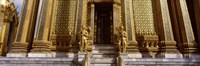 """Low angle view of statues in front of a temple, Phra Mondop, Grand Palace, Bangkok, Thailand by Panoramic Images - 27"""" x 9"""""""