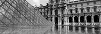 """Pyramid in front of an art museum, Musee Du Louvre, Paris, France by Panoramic Images - 27"""" x 9"""""""
