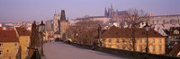 View Of Houses Along The Charles Bridge, Prague, Czech Republic Fine Art Print