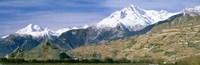 Mountains Canton Of Valais Switzerland