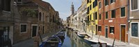 """Canal passing through a city, Venice, Italy by Panoramic Images - 27"""" x 9"""""""