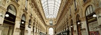 """Interiors of a hotel, Galleria Vittorio Emanuele II, Milan, Italy by Panoramic Images - 27"""" x 9"""""""
