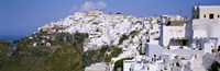 """Buildings, Houses, Fira, Santorini, Greece by Panoramic Images - 27"""" x 9"""", FulcrumGallery.com brand"""