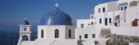 """Greece, Santorini, Fira, Church of Anastasis, Blue dome on a Church by Panoramic Images - 27"""" x 9"""", FulcrumGallery.com brand"""