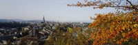 """High angle view of buildings, Berne Canton, Switzerland by Panoramic Images - 27"""" x 9"""""""