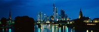 """Buildings at the waterfront, Frankfurt, Hesse, Germany by Panoramic Images - 27"""" x 9"""""""