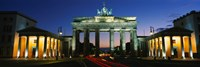 Low angle view of a gate, Brandenburg Gate, Berlin, Germany Fine Art Print
