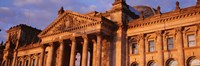 """Facade Of The Parliament Building, Berlin, Germany by Panoramic Images - 27"""" x 9"""""""