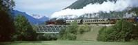 "Train on a bridge, Bohinjska Bistrica, Slovenia by Panoramic Images - 27"" x 9"" - $28.99"