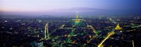 "Aerial view of a city, Paris, France by Panoramic Images - 27"" x 9"""
