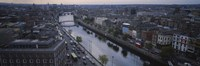 "High angle view of a city, Dublin, Leinster Province, Republic of Ireland by Panoramic Images - 27"" x 9"""