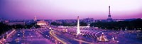 "Dusk Place de la Concorde Paris France by Panoramic Images - 27"" x 9"""