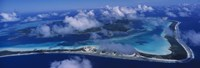 "Aerial View Of An Island, Bora Bora, French Polynesia by Panoramic Images - 27"" x 9"""