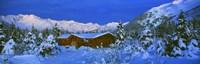 "Cabin Mount Alyeska, Alaska, USA by Panoramic Images - 27"" x 9"""