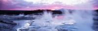 Sunset Norris Geyser Basin Wyoming USA