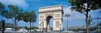 "France, Paris, Arc de Triomphe (day) by Panoramic Images - 27"" x 9"""