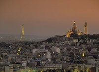 """Eiffel Tower Sacred Heart Paris France by Panoramic Images - 27"""" x 20"""""""