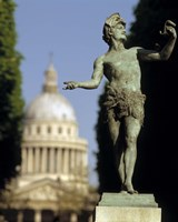 """The Pantheon Paris France by Panoramic Images - 9"""" x 27"""""""