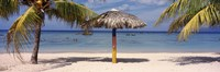 """Sunshade on the beach, La Boca, Cuba by Panoramic Images - 27"""" x 9"""""""