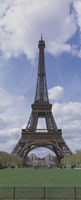 """Low angle view of a tower, Eiffel Tower, Paris, Ille-De-France, France by Panoramic Images - 9"""" x 27"""", FulcrumGallery.com brand"""