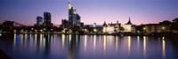 Skyline In Evening, Main River, Frankfurt, Germany Fine Art Print