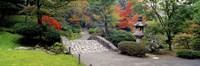 "Stone Bridge, The Japanese Garden, Seattle, Washington State by Panoramic Images - 27"" x 9"" - $28.99"