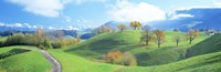 "Rolling Landscape, Zug, Switzerland by Panoramic Images - 27"" x 9"" - $28.99"