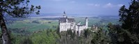 """Neuschwanstein Palace Bavaria Germany by Panoramic Images - 27"""" x 9"""", FulcrumGallery.com brand"""