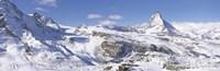 Snow Covered Slopes Matterhorn Switzerland