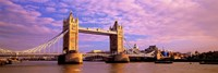 """Tower Bridge London England with Purple Sky by Panoramic Images - 27"""" x 9"""""""