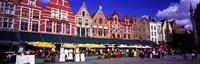 "Street Scene Brugge Belgium by Panoramic Images - 27"" x 9"""