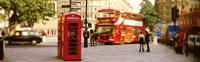 Phone Box, Trafalgar Square Afternoon, London, England, United Kingdom Fine Art Print
