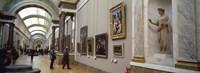 "Tourists in an art museum, Musee Du Louvre, Paris, Ile-De-France, France by Panoramic Images - 27"" x 9"""