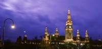 "Austria, Vienna, Rathaus, night by Panoramic Images - 27"" x 9"" - $28.99"