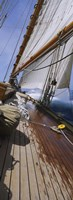 "Close-up of a sailboat deck by Panoramic Images - 9"" x 27"""