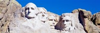 Mount Rushmore, South Dakota (white) Fine Art Print