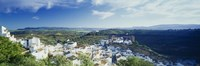 """High angle view of buildings in a town, Pueblo Blanco, Andalusia, Spain by Panoramic Images - 27"""" x 9"""""""