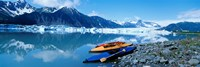 USA, Alaska, Kayaks by the side of a river Fine Art Print