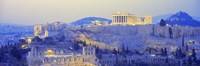 """Acropolis at Dusk by Panoramic Images - 27"""" x 9"""""""