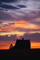 "Barn at Sunset by Panoramic Images - 9"" x 27"""